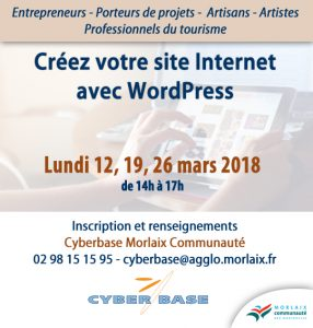 Atelier Word Press Cyberbase Morlaix
