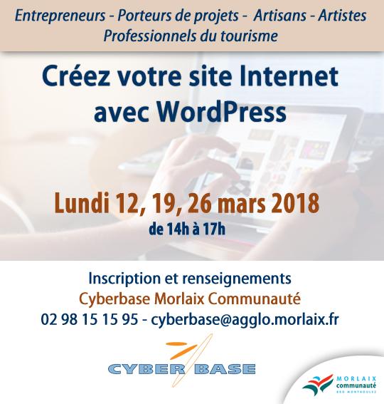 Atelier Word Press Cyberbase Morlaix